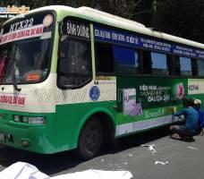 Quảng cáo xe Bus Bình Dương khách hàng UIP