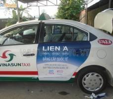 Quảng cáo trên taxi Vinasun KH Nệm Liên Á