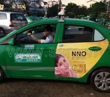 Quảng cáo trên taxi ML Quảng Ngãi Mega Wecare