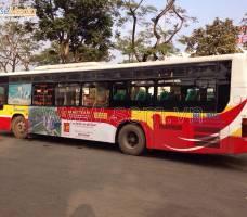 Đất Xanh MB quảng cáo trên xe Bus Hà Nội