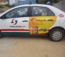 Dầu ăn Tường An quảng cáo trên taxi Group
