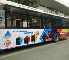 Motor Hồng Ký quảng cáo xe bus Miền Bắc