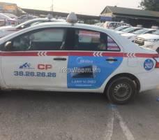 Điều hòa Midea quảng cáo trên taxi Group