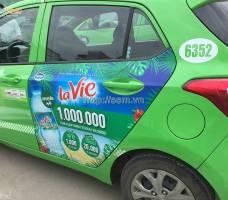 La vie quảng cáo trên taxi Open 99 tại Hà Nội