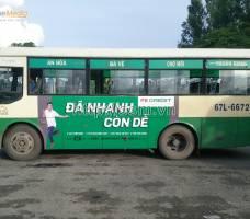 FE CREDIT quảng cáo trên xe bus tại An Giang