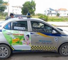 Mega quảng cáo trên taxi Thành Công-QuảngNinh