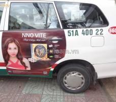Mega quảng cáo trên taxi Vinasun tại TP HCM