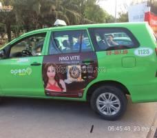 Mega quảng cáo trên taxi Open 99 tại TP HCM