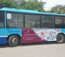 Bông Sen quảng cáo trên xe bus tại Hà Nội