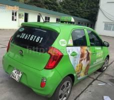 Mega quảng cáo trên taxi Open 99 tại Hà Nội