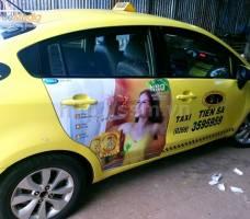 Mega quảng cáo trên taxi Tiên Sa tại Gia Lai