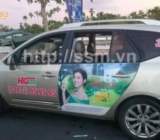 Mega quảng cáo trên taxi Hậu Giang
