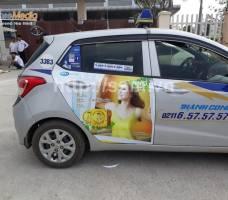 Mega quảng cáo trên taxi Thành Công Vĩnh Phúc