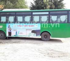 Nhựa Tiền Phong quảng cáo trên bus Quảng Ngãi