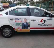 K - food quảng cáo trên taxi Vinasun HCM