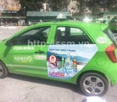Huda quảng cáo trên taxi Open 99 Hà Tĩnh