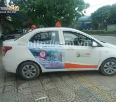 Huda quảng cáo trên Suntaxi Quảng Trị