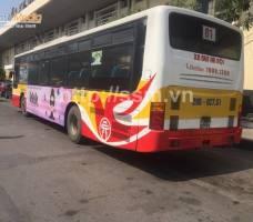 Nước hoa Miso quảng cáo trên xe bus Hà Nội