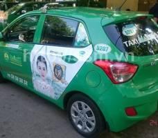 Mega quảng cáo trên taxi Mai Linh TP HCM 2018