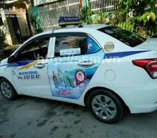 Huda quảng cáo trên taxi Thành Công Quảng Nam