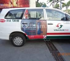 Hafele quảng cáo trên taxi Vinasun tại TP HCM