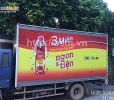 3 Miền quảng cáo trên ô tô tải tại Vĩnh Phúc