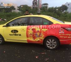 Neptune quảng cáo trên taxi Tiên Sa Đà Nẵng