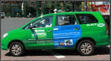 Bảng báo giá  quảng cáo trên xe Taxi