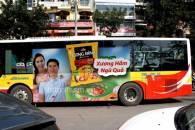 Bảng báo giá  quảng cáo trên xe Bus tại Hà Nội