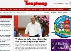 Báo giá quảng cáo báo Tiền Phong