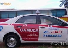 Quảng cáo trên cửa xe taxi Group Trần Khánh Dư - GAMUDA