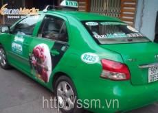 Hoa quả Hàn Quốc quảng cáo trên xe taxi Mai Linh