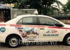 Vinperland quảng cáo trên xe taxi Group tại Hà Nội