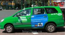 Taxi advertising profession in Vietnam
