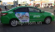 Vinpearland quảng cáo trên xe taxi Mai Linh tại TPHCM
