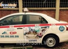 Quảng cáo trên xe taxi Group uy tín, chuyên nghiệp
