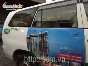 Quảng cáo trên taxi Mai Linh cho BĐS Docklands – TPHCM