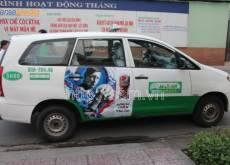 Pepsi quảng cáo tràn cánh cửa xe taxi Mai Linh