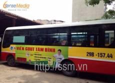 Dược phẩm Tâm Bình quảng cáo trên thân xe bus Hà Tây