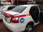 Quảng cáo sau lưng ghế taxi Group cho BIDV
