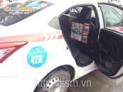 Nshape Fitness quảng cáo sau lưng ghế taxi Group