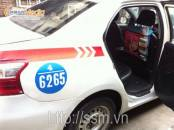 Quảng cáo sau lưng ghế taxi Group cho TMV Hong Kong