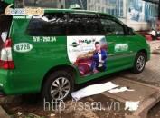 Quảng cáo trên xe taxi Mai Linh cho Phố Vip