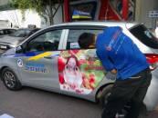 Quảng cáo trên xe taxi uy tín chuyên nghiệp hiệu quả toàn quốc