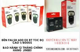 Giảm giá 10% đèn flash Caler 600EX-RT từ ngày 01/08 đến 31/08