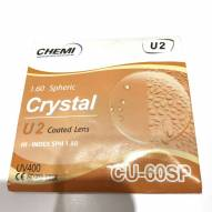 Tròng kính CHEMI Hàn Quốc UV400 - CHEMI CRYSTAL 1.60 SPHERIC U2 COATED LENS