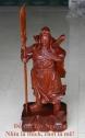Quan Công Trấn Trạch gỗ Hương Cao 80cm QCH10