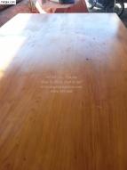 Chiếu gỗ gõ đỏ Nguyên tấm rộng 2m