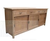 Teak Sideboard 3 Sliding doors and 3 Drawers