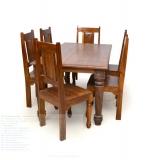 Six Seater Teak Wood Dining Set